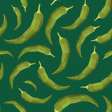 Seamless vintage polygon hot pepper pattern Stock Photography