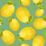 Seamless vintage polygon lemon pattern Royalty Free Stock Image