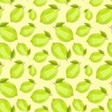 Seamless vintage polygon summer lemon lime pattern Royalty Free Stock Image