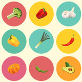 Seamless vintage polygon vegetable pattern Stock Photography
