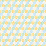 Seamless vintage print. Stitches in the shape of a hexagon. Royalty Free Stock Photo