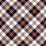 Seamless vintage purple Scotland check cloth pattern background. Royalty Free Stock Photos