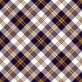 Seamless vintage purple Scotland check cloth pattern background. Royalty Free Stock Photos