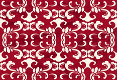 Seamless Vintage Red Chinese Background Botanic Curve Spiral Cro Royalty Free Stock Photography