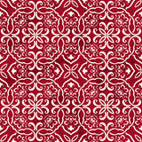 Seamless Vintage Red Chinese Background Polygon Curve spiral Cro Royalty Free Stock Image