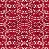 Seamless Vintage Red Chinese Background Spiral Curve Cross Chain Stock Photo