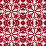 Seamless Vintage Red Chinese Background Spiral Oval Polygon Cross Royalty Free Stock Photos