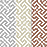 Three Separate Seamless Cross Tee Background Patterns Stock Photography