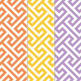 Three Separate Seamless Cross Tee Background Patterns Royalty Free Stock Photos