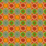 Seamless vintage retro pattern orange textile Stock Images