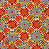 Seamless vintage retro pattern orange textile Royalty Free Stock Images
