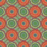 Seamless vintage retro pattern orange textile Stock Image