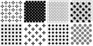 Seamless vintage retro square regtangle pattern illustration vector Set royalty free stock image