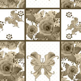 Seamless vintage rose butterfly pattern background Royalty Free Stock Photography