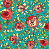 Seamless vintage rose pattern Royalty Free Stock Photography
