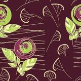 Seamless vintage rose pattern background Stock Image