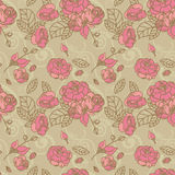 Seamless vintage roses. Seamless pattern of vintage roses Royalty Free Stock Photos