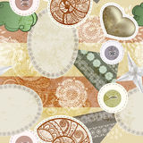 Seamless vintage scrap template. Design pattern royalty free illustration