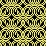 Seamless vintage style circles and waves netting pattern. Stock Images