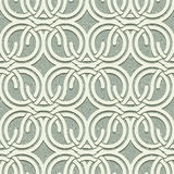 Seamless vintage style circles and waves netting pattern with gr Stock Images