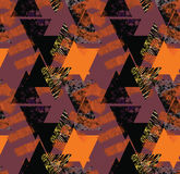 Seamless vintage style pattern with geometrical ornament. Stock Image