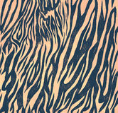 Seamless vintage style pattern with zebra print Stock Images