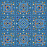 Seamless vintage tile vector pattern Stock Photo