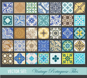 Seamless Vintage Tiles Background Collection Royalty Free Stock Images