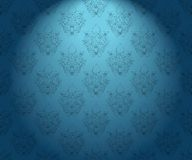 Seamless vintage wallpaper. Seamless vintage blue and black illuminated wallpaper Stock Photography