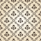 Seamless Vintage Wallpaper Background Floral Beige Stock Photos