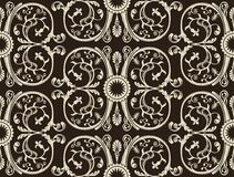 Seamless vintage wallpaper black background Royalty Free Stock Images
