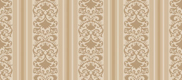 Seamless Vintage Wallpaper Pattern Stock Photography