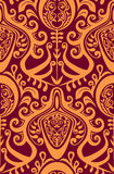 Seamless vintage wallpaper pattern. Stock Photo