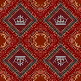 Seamless Vintage. Wallpaper Pattern. Stock Photos