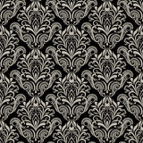 Seamless vintage wallpaper pattern. Royalty Free Stock Images