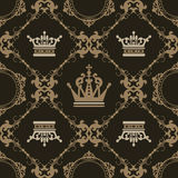 Seamless Vintage. Wallpaper Pattern. Vector Royalty Free Stock Photography