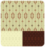 Seamless Vintage Wallpaper set of 3. Vintage inspired seamless wallpaper pattern - 3 colour schemes Stock Image