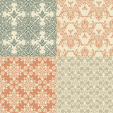 Seamless Vintage Wallpapers Royalty Free Stock Photos