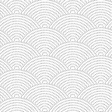 Seamless vintage wavy background. The black dots on a white background. Royalty Free Stock Image