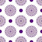 Seamless vintage white pattern Royalty Free Stock Image