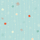Seamless vintage winter pattern Royalty Free Stock Images