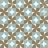 Seamless vintage worn out geometry assemble pattern background. Royalty Free Stock Image