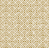 Seamless vintage worn out golden crossed diamond check square background. Royalty Free Stock Images