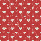 Seamless vintage worn out heart shape pattern background. Stock Photography
