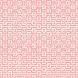Seamless vintage worn out pink square sequence pattern background. Stock Images