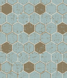 Seamless vintage worn out polygon painted wooden texture pattern background. Stock Images