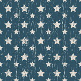 Seamless vintage worn out star shape pattern background. Stock Images