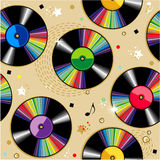 Seamless vinyl records pattern Stock Photo