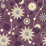 Seamless violet floral pattern Royalty Free Stock Photography