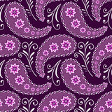 Seamless violet floral pattern Royalty Free Stock Images